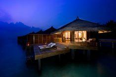 Wasserbungalow Malediven schöner Blick