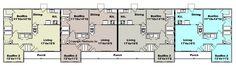 Duplex House Plans, Apartment Floor Plans, House Floor Plans, Home Design Plans, Plan Design, Jamaica House, Rental Property, Investment Property, Student House