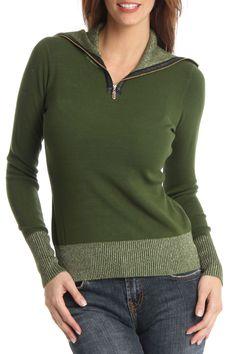 Patrizia Luca Marcy Sweater In Hunter & Gold -