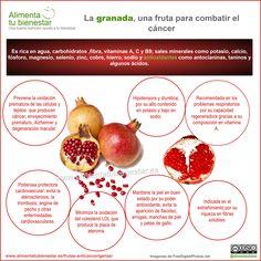 Propiedades y beneficios de la granada para la salud, aliada contra el #cáncer