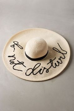 Oh, how I miss the summers of leisurely sun bathing!! Paying for them now with little brown spots!!  ~ GABH ~ Do Not Disturb Hat #anthrofave