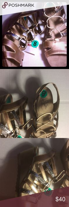 Brand NWT Life stride Metallic Wedge Sandals Sz 8 Dear Poshers,  This listing is for a brand new pair of LIFE STRIDE WEDGE SANDALS. SIZE 8 COLOR~Metallic multi. Cross between rose gold and pewter. FAUX LEATHER UPPER WEDGE HEEL ELASTIC SLING BACK CLOSURE BUNGE DETAIL LIFE STRIDE'S SOFT SYSTEM FOR ALL DAY COMFORT Sandals are being sold in New and As Is condition. No returns.  Will ship within 3 -5 days. Thanks for your order in advance. Life Stride Shoes Sandals