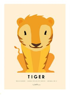 Tiger A3 poster från Wallflower hos ConfidentLiving.se