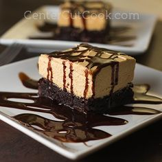 A chocolatey chewy brownie base gets topped with a fluffy peanut butter layer, then drizzled with chocolate syrup right before serving to create this Peanut Butter Brownie Dream! Uses a brownie mix. Easy Desserts, Delicious Desserts, Dessert Recipes, Yummy Food, Healthy Food, Peanut Butter Desserts, Peanut Butter Brownies, Peanut Butter Pretzel, Nutter Butter