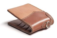 WC Leather & Cordovan Wallet - Tan - Self Edge