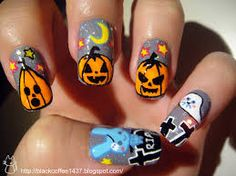 halloween nails awesome - Google Search