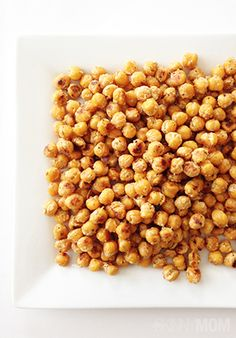 Tasty and easy, this roasted chickpeas recipe is a great snack to whip up and save for snacking for the next few days!
