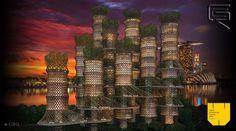 Bamboo Skyscraper 2