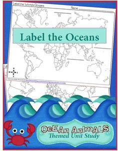 Learn the names of the oceans for our beach unit.