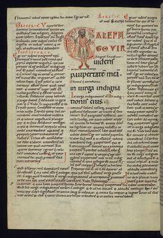 Illuminated Manuscript, Gloss on The lamentations of Jeremiah, Initial E with Jeremiah mourning, Walters Manuscript W.30, fol. 23v by Walters Art Museum Illuminated Manuscripts, via Flickr