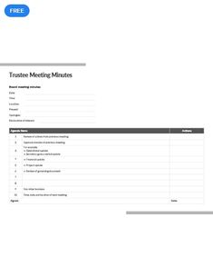 Download the Basic Meeting Minutes Template from Vertex42