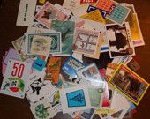 Lot of Game Pieces and Cards for Altered Art Projects