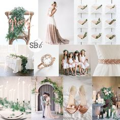 Inspiration Board: Rose Gold & Greenery | SouthBound Bride www.southboundbride.com/inspiration-board-rose-gold-greenery Credits: R1: Host and Toast Studio // Truvelle // Red Raven Studios; R2: Ben Q. Photography/Lindsey Zamora Wedding Styling + Design/The Southern Table // Suzanne Kalan // Jose Villa // Something Ivory; R3: Kae & Ales // Jose Villa/Laurie Arons/Sarah Winward // Sarah Postma Photography // Jose Villa Photography/Brooke Keegan Weddings And Events/Holly Flora