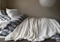Ivory Waffle Textured Linen Quilt / Bed cover/ Linen Blanket/Coverlet. Super Heavy weight linen. Large size