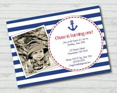 Nautical Collection Printable Photo Invitation by PaigeSimple, $13.00