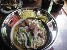 Traditional Yak noodle soup. Tibet.