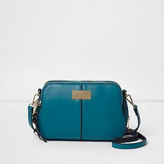 Teal blue triple compartment cross body bag £28.00