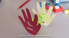 carte fete des peres petites mains à découper