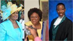 The three most powerful women in Barbados - (L-R) Governor General Dame Sandra Mason, Prime Minister Mia Mottley and Director of Public Prosecutions Donna Babb-Agard