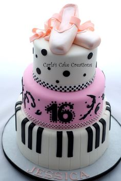Dancer cake who loves to play the piano