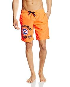 Geographical Norway Shorts da Bagno [Arancione]