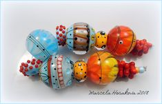 "ELA Lampwork Beads - ""Waiting for Spring""  #Lampwork"
