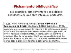 Estrutura de fichamento bibliográfico.