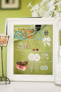 to hang earrings