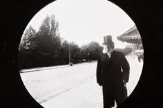 Henrik Ibsen on Karl Johan street Oslo Norway