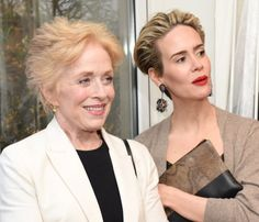 Pin for Later: Sarah Paulson and Girlfriend Holland Taylor Reunite With Her AHS Costars For a Good Cause