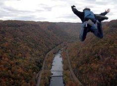 BASE jumping at Bridge Day 2012 #bridgeday