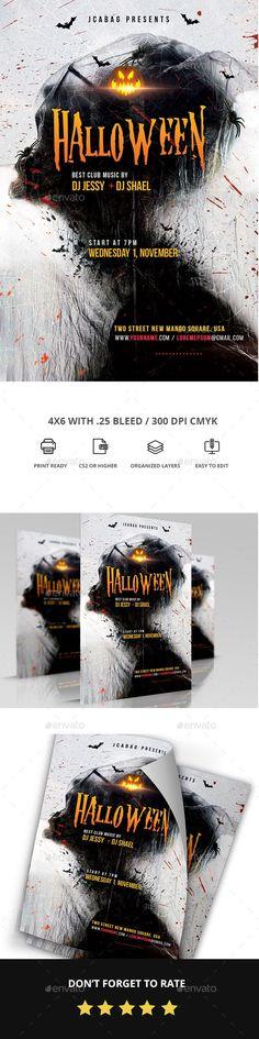 1006 Best Halloween Flyer Templates Images On Pinterest Flyer