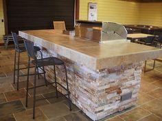 Artisan/Alfresco Custom Outdoor BBQ Kitchen with wrap around bar