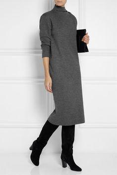 Dark-gray wool and cashmere dress