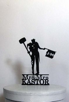 Personalized Wedding Cake Topper Joker and Harley by Plasticsmith