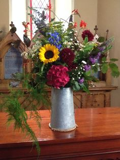 Large wild flower jug for church by Posy Barn