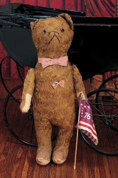 American Golden Teddy Bear. Circa 1935. http://Theriaults.com  I have one of these.