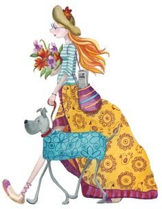 Monica Carretero Illustration - monica carretero, traditional, paint, painted, watercolour, ink, watercolor, picture book, fiction, educational, commercial, trade, people, woman, women, ladies, lady, girls, editorial