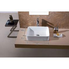 Features:  -Sleek european inspired modern contemporary design.  -Luxury oversized creation.  -Above the counter installation.  Installation Type: -Vessel sink.  Style: -Contemporary/Modern.  Sink Sha
