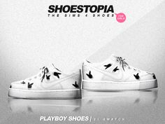 SHOESTOPIA — Playboy Shoes    Download (SimsDom) Download this... The Sims 4 Pc, Sims 4 Teen, Sims 4 Toddler, Sims Cc, Sims 4 Cc Kids Clothing, Sims 4 Mods Clothes, Sims 4 Game Mods, Sims Mods, Sims 4 Cc Folder