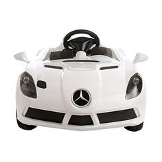 Aosom Mercedes Benz SLR Convertible Kids Electric Ride On Car with and Remote Control – White Gift Store, Convertible, Mercedes Benz, Remote, Electric, Toys, Car, Automobile, Toy