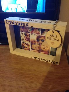 Mums birthday gifts, wood burned photo frame and keyring :) from me and my daughter