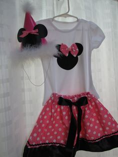 $26.99 etsy PERSONALIZED Girls Pink White Polka Dot Minnie Mouse by PartyStylingsofMandy