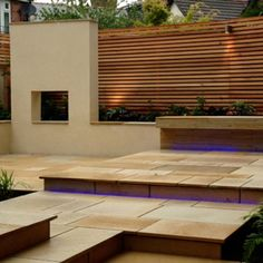 'Hole in the wall' with the horizontal fencing behind… Western Red Cedar Premium Slatted Screen Fence Kits Terrace Design, Garden Design, Slatted Fence Panels, Cedar Fence, Wood Fences, Cedar Wood, Cedar Homes, Terrace Garden, Rooftop Terrace