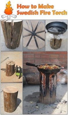The Swedish Fire Torch, also known as a Canadian Candle, is a great way to set up a fire as it uses only one log, has a flat cooking surface and is self feeding, meaning it can burn for several hours without any attention. To make a Swedish Fire Torch, find a single log, the…