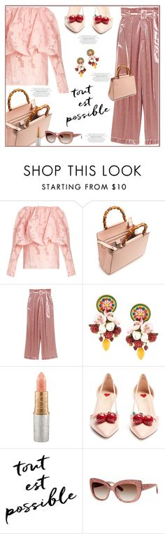 """""""Tout est possible !!"""" by anne-irene ❤ liked on Polyvore featuring Rosie Assoulin, Gucci, Dolce&Gabbana, MAC Cosmetics and Kate Spade"""