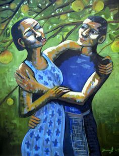 Embrace in the Apple Orchard | Darryl Freeman