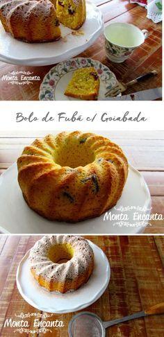Como preparar um delicioso bolo de fubá com goiabada, bem rápido e sem batedeira...