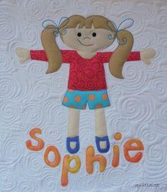 little girl applique