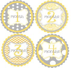 Monthly Baby Onesie Stickers